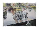 Ripples and Birdhouse, Kew Gardens, 2014 Giclee Print by Calum McClure