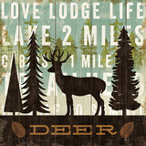 Simple Living Deer Print by Michael Mullan
