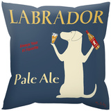 Labrador Pale Ale Pillow Throw Pillows