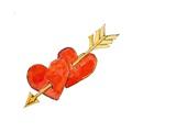Two Hearts - Arrow, 2011 Giclee Print by Jennifer Abbott