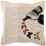 Emerging Butterflies Pillow Throw Pillows