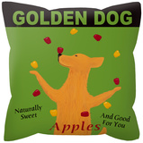 Golden Dog Pillow Throw Pillows