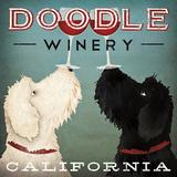 Doodle Wine Affiche par Ryan Fowler