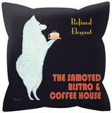 Samoyed Bistro and Coffe House Pillow Throw Pillows