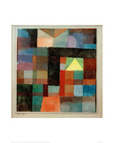 Space Architecture with The Yellow Pyramid / Cold-Warm, 1915 Giclee Print by Paul Klee