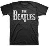 The Beatles - Distressed Logo Shirt