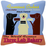 Three Lab Bakery Pillow Throw Pillows