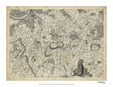 Map of London Grid XI Giclee Print