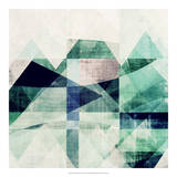 Teal Mountains III Giclee Print by Amy Lighthall