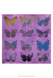 Butterflies on Magenta Prints by Sisa Jasper
