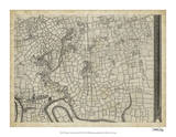 Map of London Grid VIII Giclee Print