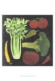 Blackboard Veggies III Posters by  Vision Studio