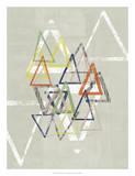 Stamped Triangles II Giclee Print by Jennifer Goldberger