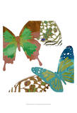 Scattered Butterflies I Art by Sisa Jasper