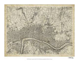 Map of London Grid VII Giclee Print