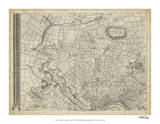 Map of London Grid V Giclee Print