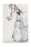 """Looking Very Undancey Indeed"", from 'Peter Pan in Kensington Gardens' by J.M. Barrie, 1906 Giclée-tryk af Arthur Rackham"