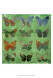 Butterflies on Green Posters by Sisa Jasper