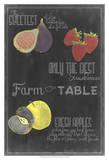 Blackboard Fruit III Print
