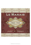 Burgundy Wine Labels I Prints by Erica J. Vess