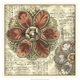 Vintage Rosette I Giclee Print