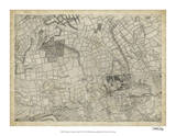 Map of London Grid VI Giclee Print
