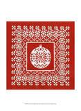 Fair Isle Snowflake III Prints by Chariklia Zarris
