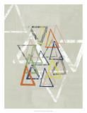 Stamped Triangles I Giclee Print by Jennifer Goldberger