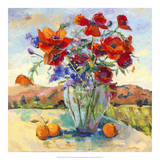 Floral Kaleidoscope II Giclee Print by Nanette Oleson