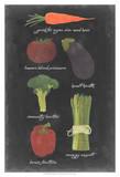 Blackboard Veggies I Posters by  Vision Studio