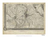 Map of London Grid XIII Giclee Print