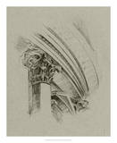Charcoal Architectural Study III Giclee Print by Ethan Harper