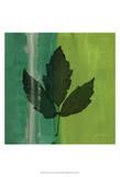 Silver Leaf Tile II Posters af James Burghardt