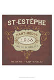 Vintage Wine Labels IV Prints by June Erica Vess