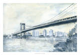 City Bridge II Giclee Print by Megan Meagher