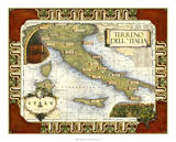Wine Map of Italy on CGP Giclee Print