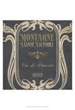 Vintage Wine Labels V Poster by June Erica Vess
