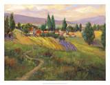 Vineyard Tapestry III Giclee Print by Nanette Oleson