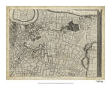 Map of London Grid XII Giclee Print
