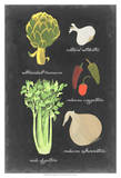 Blackboard Veggies II Prints