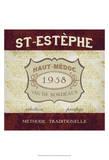 Burgundy Wine Labels III Prints by June Erica Vess