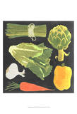 Blackboard Veggies IV Art