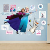 Frozen Ice Skating Collection Wall Decal