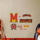 Maryland Terrapins Logo Assortment - Fathead Jr. Wall Decal