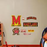 Maryland Terrapins Logo Assortment - Fathead Jr. Wall Decal