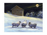 January Fleece Giclee Print by Jerry Cable