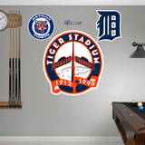 Tiger Stadium Logo Wall Decal