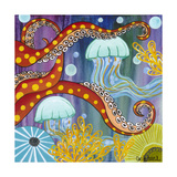 Jelly Fish Giclee Print by Carla Bank