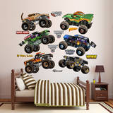 Cartoon Monster Jam Trucks Collection Wall Decal