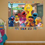Sesame Street Group Mural Wall Mural